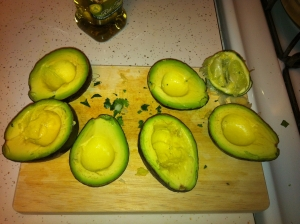 avocado with lime juice