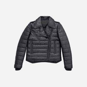 Padded Leather Jacket $399